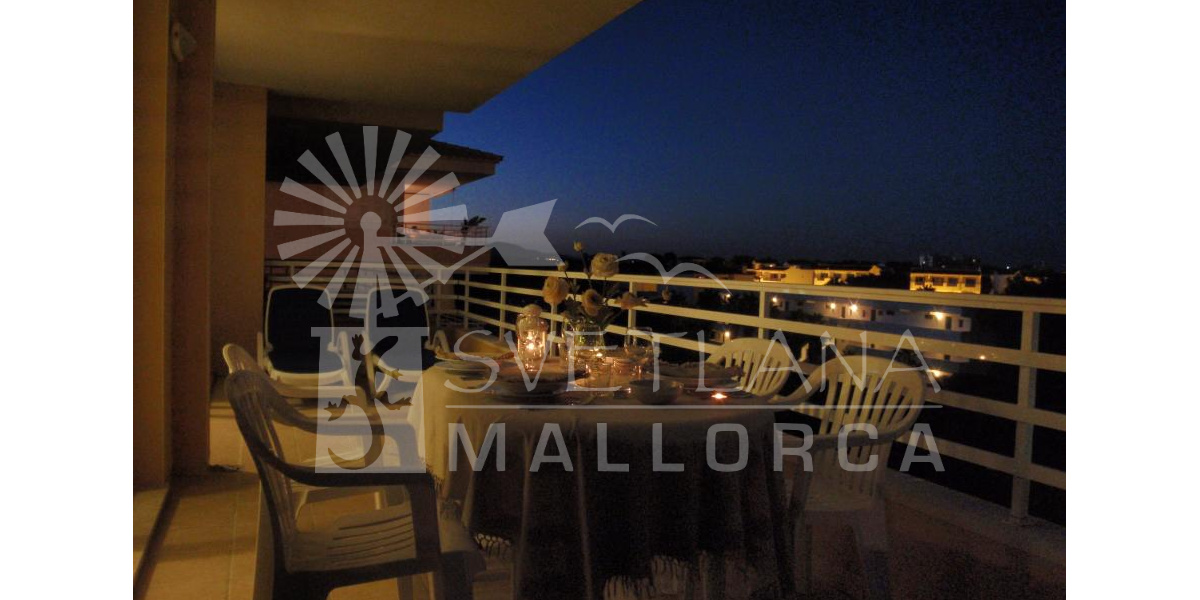 Terrace night view.