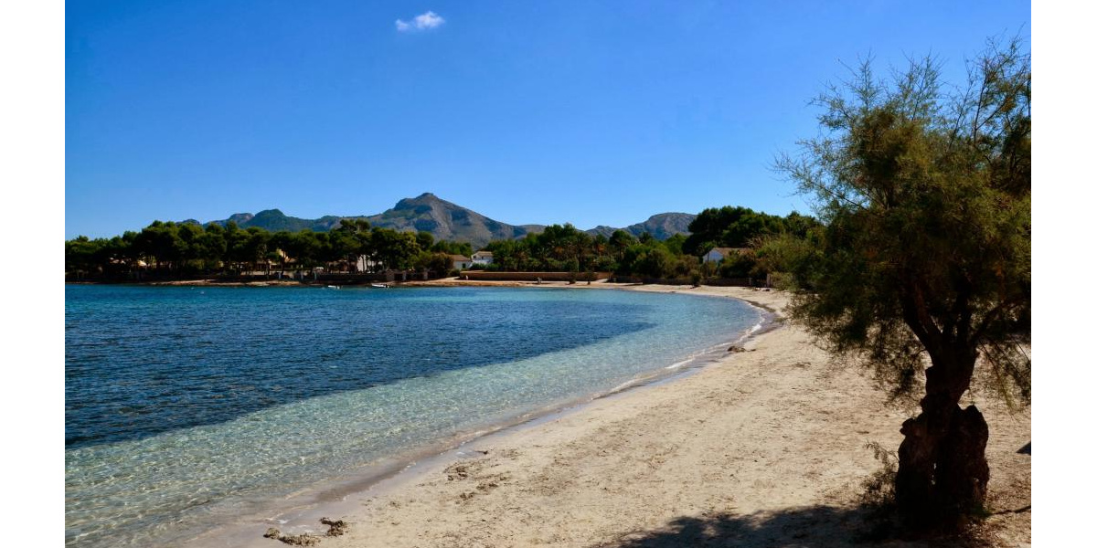 The beach Sa Marina, Alcudia.